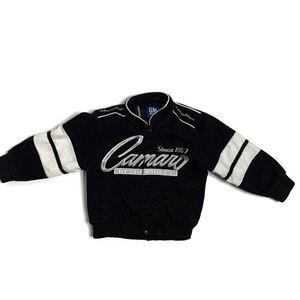 Corvette Camaro GM Kids Black Car Flag Jacket